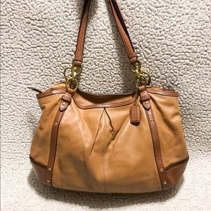 COACH Alexandra Chain Leather Tote/Shoulder Bag.